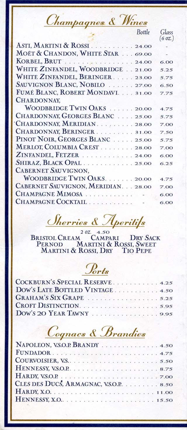 Freedom Of The Seas Photos Videos Menus Bar Menus Food ...