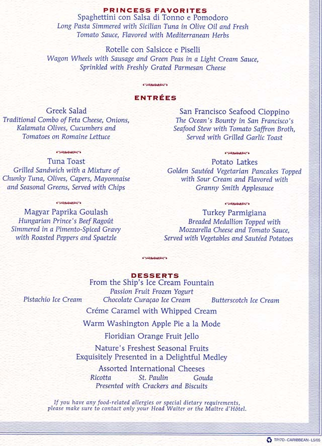 Cruiseclues Princess Cruises Star Princess Cruise Lunch